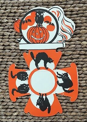 Vintage 1930s - 50s Beistle Halloween Nut Cup / Place Card