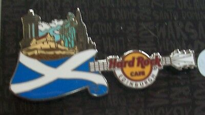 Hard Rock Cafe Edinburgh 2017 Core Flag Over City Series Lapel Pin