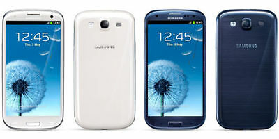 "Blue/White 4.8"" Unlocked Samsung Galaxy S3 I9300 8MP 3G Android Smartphone 16GB"