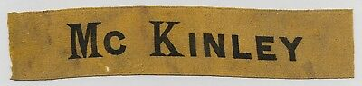 Nice President William McKinley Campaign Ribbon