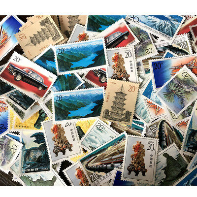 RANDOM SEND-Assorted Chinese Collection Stamps Off Paper Bunch Lot of 10Pcs