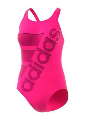 Adidas Kids Graphic Performance Swimsuit Pink