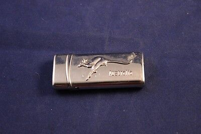 "Unique 2.75"" Australia Kangaroo Souvenier Chrome Lighter Used"