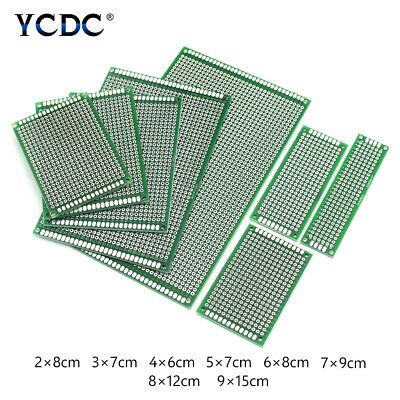 Double-Sided Pcb Industrial Circuit Board Prototype Kit 8Sizes For Diy Soldering