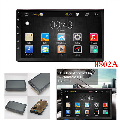 "2Din Android 6.0 GPS Navigation Bluetooth WiFi Multi-Media 7"" Car Radios Player"