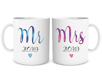 great gift for newly weds Mr /& Mrs Mugs married couples valentines day 78//8217