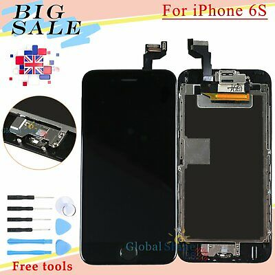 Assembly For iPhone 6S LCD Display Touch Screen Digitizer + Home Button Black