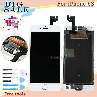 Assembly For iPhone 6S LCD Display Touch Screen Digitizer + Home Button White