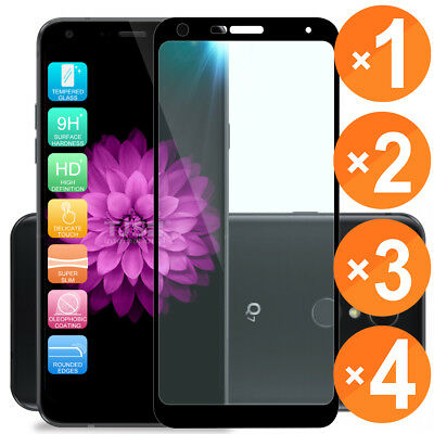 For LG Q7/Q7 Plus Black Full Coverage Screen Tempered Glass Screen Protector