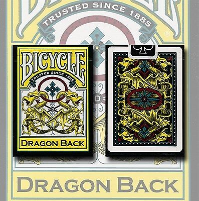 Bicycle Dragon Deck (Yellow)  - US Playing Card Company playing cards