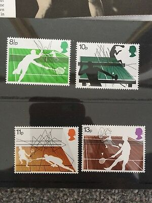 Racket Sports Stamps British Post Office 1977