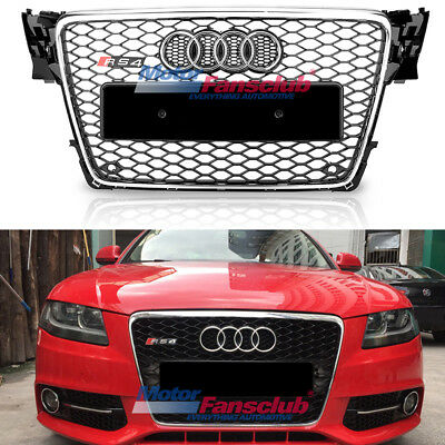 Chrome Honeycomb Mesh Frontgrill oberen Grille für Audi A4 S4 B8 RS 2009-2012