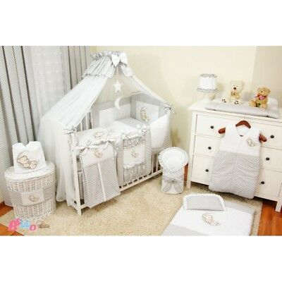 BEDDING SETS 16 PART SET COT BED 120x60 WITH DRAWER  INCLUDING FOAM MATTRESS