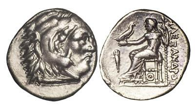 Kings of Macedon: Alexander III (The Great) silver drachm Lampsacus mint