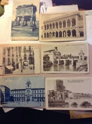 Lot of 6 Vintage Post Cards - Italian Architecture - Early 1900s