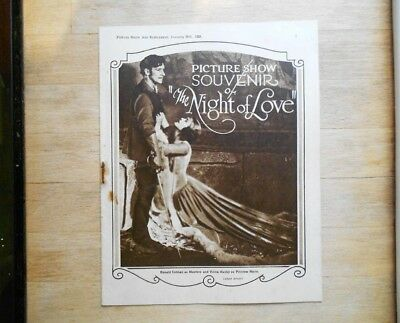 Picture Show souvenir magazine 1928 Night Of Love silent movie Ronald Colman