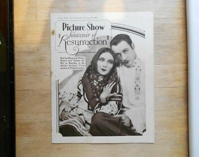Picture Show souvenir magazine 1928 Resurrection silent movie Dolores del Rio