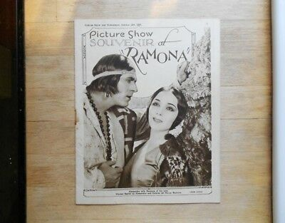 Picture Show souvenir magazine 1928 Ramona silent movie Dolores del Rio
