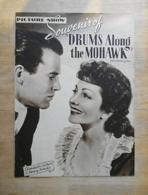 1939 Picture Show souvenir magazine Drums Along The Mohawk with Henry Fonda