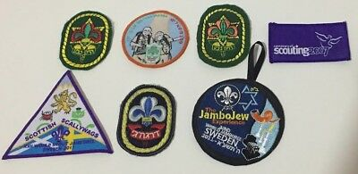 mixed antique used israeli and international scouts and jamboree pathches