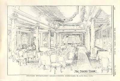 1909 Dining Room For Proposed Hydropathic Establishment In Harrogate S Stead