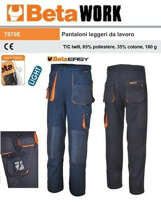 Beta Work 7870E Pantaloni Leggeri Da Lavoro Easy  Light