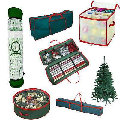 Christmas Zip Up Storage Bag Organizer Sturdy Tree Cover Sack with Carry Handles