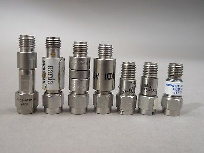 Lot of 7 SMA Attenuators Narda, KDI, Midwest