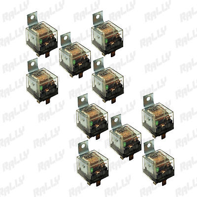 New Relay 5 Pin 100 Amp 12V Car Automotive Truck Alarm Bulb Set 10 Ten Pcs