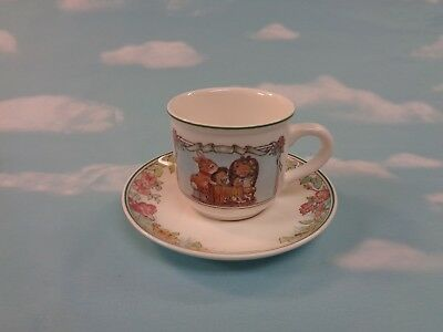 Foxwood Tales Child's Cup And Saucer By Villeroy & Boch Brian Paterson 1994