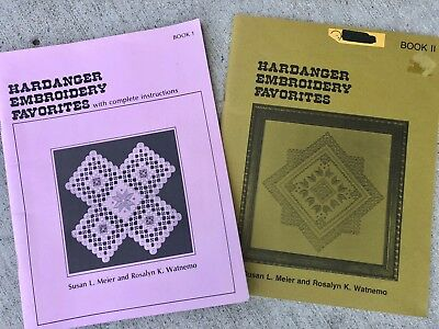 Hardanger Embroidery Favorites Book 1 & 2 with Instructions Meier & Watnemo