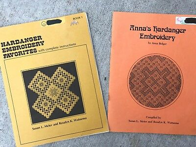 Hardanger Embroidery Favorites Book 1 + Anna's Book Pattern Lot Meier & Watnemo