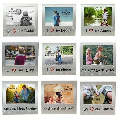 Personalised Photo Frame Mum Dad Auntie Grany Grandad Sister Brother Add Picture