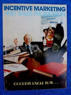 Incentive Marketing and Sales Promotion - Vintage copy: March, 1978.