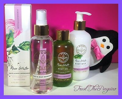 Bath and Body Works Pure Simplicity Rose Water Hypoallergenic Set Vegan