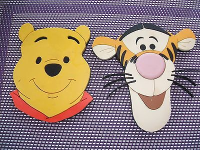 tigger and winnie the pooh disney fridge magnets pair