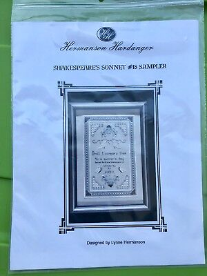 Hardanger Embroidery Pattern - Shakespeare's Sonnet #18 Sampler Lynne Hermanson