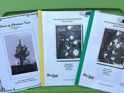 Hardanger Embroidery Christmas Ornaments Pattern Book Lot