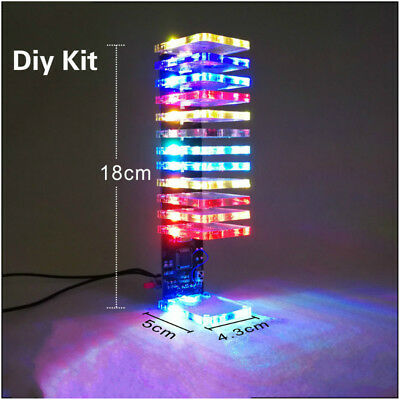 Crystal Cube 13 LED Music Spectrum Level Display VU Meter For Tube Amplifier DIY