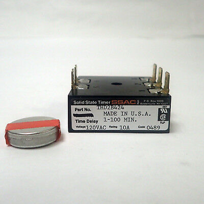 Ssac Thd2B424 Solid State Delay Timer Relay With Compound 120Vac, 10A, 1-100 Min