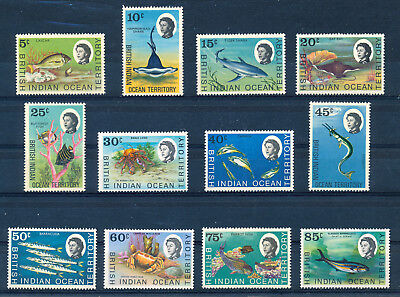 BRITISH INDIAN OCEAN TERRITORY 1968 DEFINITIVES SG16/24a  MNH