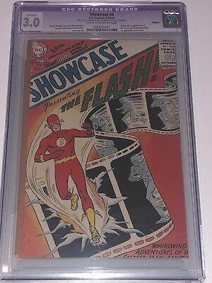 Showcase 4 CGC 3.0 GD/VG Slight DC 1956 Origin & 1st Appearance Silver Age Flash
