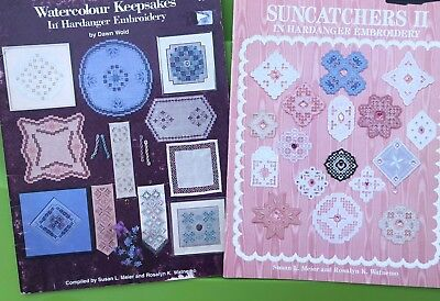 Hardanger Embroidery Keepsake Pattern Book Lot - Doily Bell pull Suncatchers