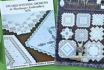 Award Winning Designs Hardanger Embroidery Keepsake Pattern Book Lot Doily