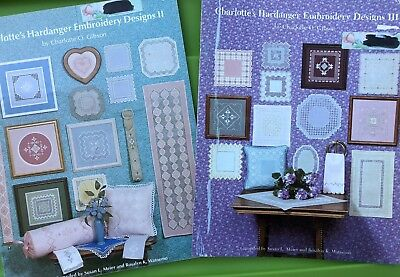 Charlotte's Hardanger Embroidery Pattern Book Lot - Doily Bell pull Pillow