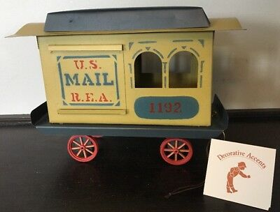 SHADOWDANCER FOLK ART TIN TRAIN - Signed by Edna Young - '92 US MAIL R.E.A 1192