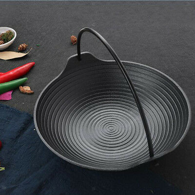 Cast Iron Skillet Grill Camping Cooking Frying Pan Kitchen Stovetop Cookware