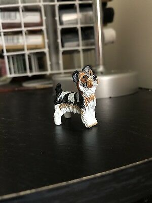 Schleich Custom Handpainted Parti Coated Yorkshire Terrier Made By Me