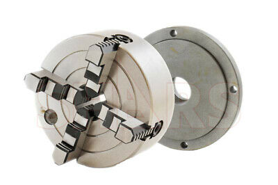 """6"""" 4 Jaw Independent Lathe Chuck With Certificate + 1-1/2""""-8 Back Plate New"""