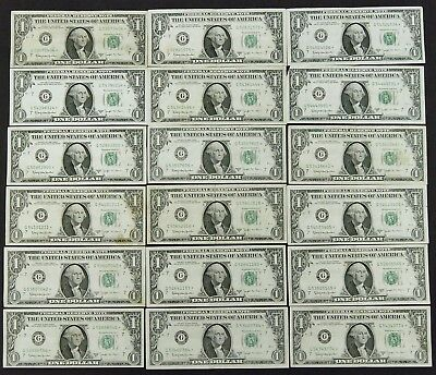 Lot of 18, 1963 B FRN Joseph W. BARR **STAR** NOTES US Currency A4158